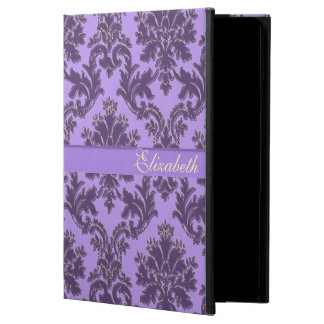 Lavender Purple Damask Personalized iPad Air Case