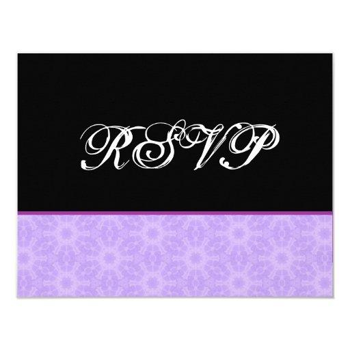 "Lavender Purple Flowers RSVP Wedding Response Card 4.25"" X 5.5"" Invitation Card"