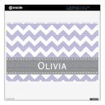 "Lavender Purple Gray Chevron 11 in MacBook Air Ski 11"" MacBook Air Decal"