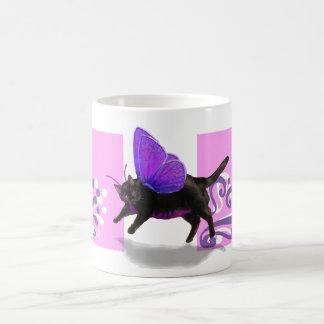Lavender purple kitty fairy fantacy coffee mug