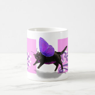 Lavender purple kitty fairy fantacy mugs