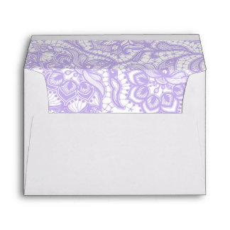 Lavender Purple Lace Wedding Envelope