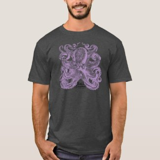 Lavender Purple Octopus T-Shirt