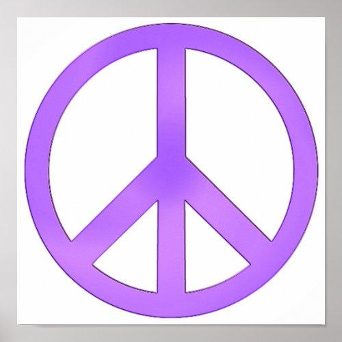 Lavender Purple Peace Symbol print