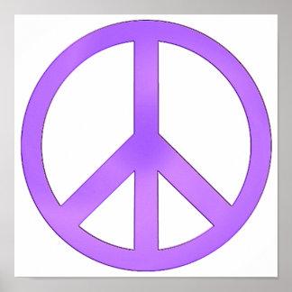 Lavender Purple Peace Symbol Poster