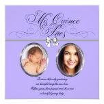 Lavender Purple Photo Quinceanera Invitations
