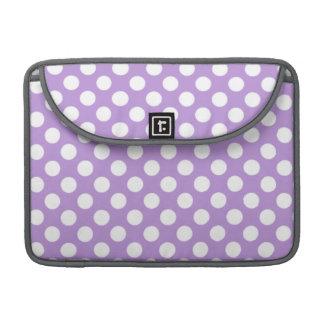 Lavender Purple Polka Dots Sleeve For MacBooks