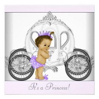 Lavender Purple Princess Baby Shower Custom Invite