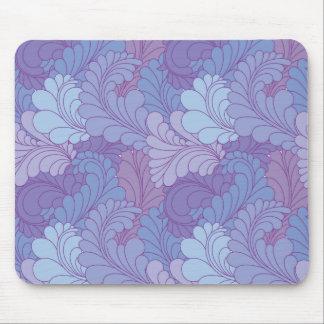 Lavender Purple Retro Floral Paisley Feathers Mouse Pad