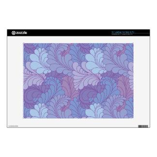 Lavender Purple Retro Floral Paisley Feathers Laptop Decals