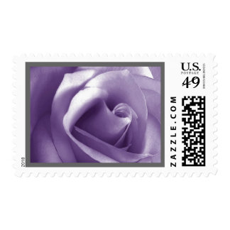 LAVENDER PURPLE Rose Wedding Stamp