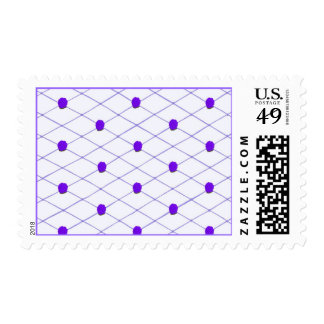 Lavender Purple Roses Criss Cross Pattern Stamps