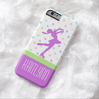 Lavender Purple Skater Bright Pastel Polka-Dots Barely There iPhone 6 Case