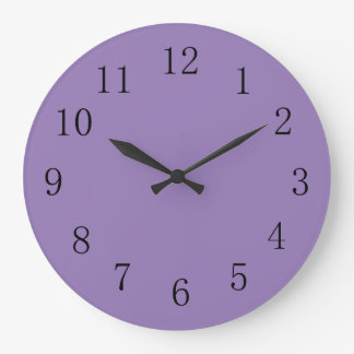 Lavender Purple Solid Color Large Clock