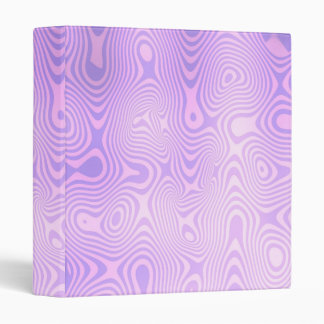 Lavender Purple Squiggly Abstract Art 3 Ring Binder