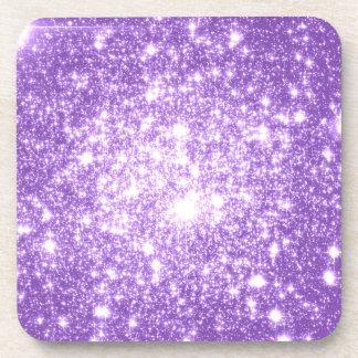Lavender Purple Stars Beverage Coaster