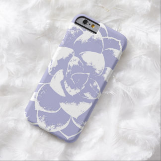 Lavender Purple Succulent Flower Barely There iPhone 6 Case