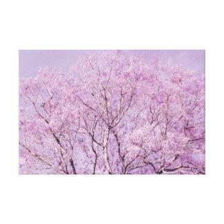 Lavender Purple Tree Photograph Canvas Print