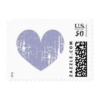 Lavender purple vintage heart postage stamps