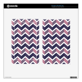 Lavender Purple White Geometric Chevron Pattern Kindle Fire Decals