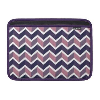 Lavender Purple White Geometric Chevron Pattern MacBook Air Sleeve