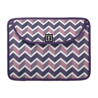 Lavender Purple White Geometric Chevron Pattern MacBook Pro Sleeve