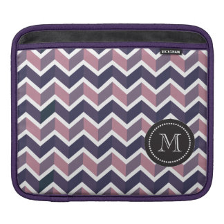 Lavender Purple White Geometric Chevron Pattern Sleeves For iPads