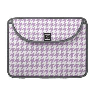 Lavender Purple & White Houndstooth MacBook Pro Sleeve