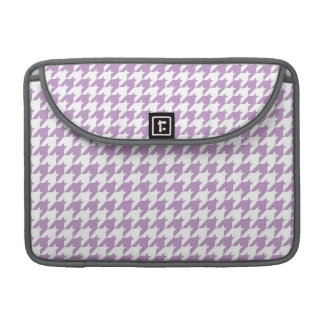 Lavender Purple & White Houndstooth Sleeve For MacBooks