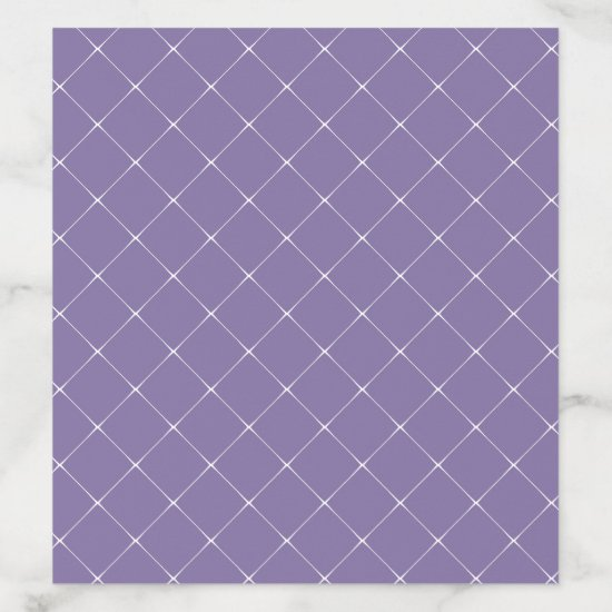 Lavender Purple White Lattice Work Overlay Envelope Liner