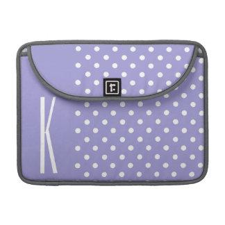 Lavender Purple & White Polka Dots MacBook Pro Sleeves