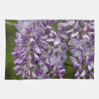 Lavender Purple Wisteria Wildflower Vine Hand Towel