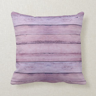 Lavender & Purple Wood Boards Planks Throw Pillow