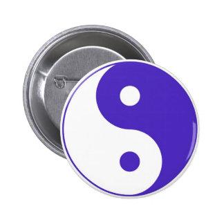 Lavender Purple Yin-Yang Pinback Button