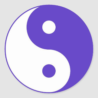 Lavender Purple Yin-Yang Classic Round Sticker
