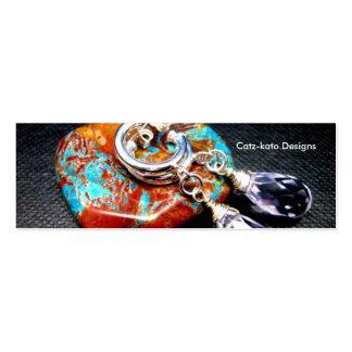 Lavender Quartz Glass Skinny Business Card