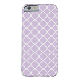 Lavender Quatrefoil Barely There iPhone 6 Case