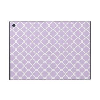 Lavender Quatrefoil Cover For iPad Mini
