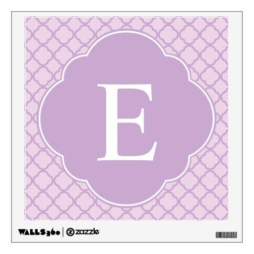 Lavender Quatrefoil Custom Monogram Room Decal