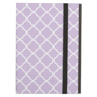 Lavender Quatrefoil iPad Covers