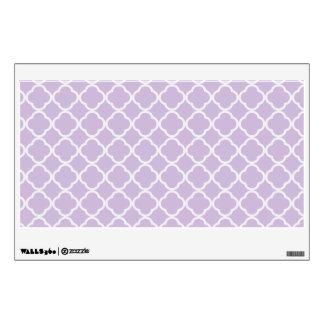 Lavender Quatrefoil Wall Sticker