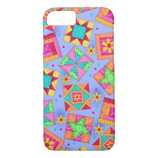 Lavender Quilt Patchwork Blocks Art iPhone 7 Case