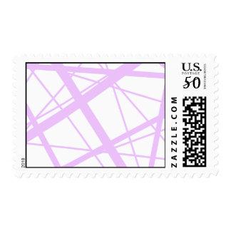 Lavender  Random Stripes Postage