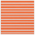 [ Thumbnail: Lavender & Red Striped/Lined Pattern Fabric ]