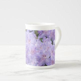 Lavender Rhodies Bone China Mug Rhododendrons