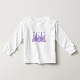 Lavender Ribbon Christmas Trees - General Cancer Toddler T-shirt