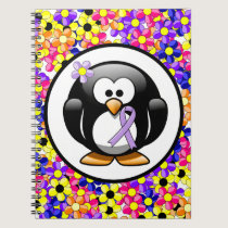 Lavender Ribbon Penguin Notebook