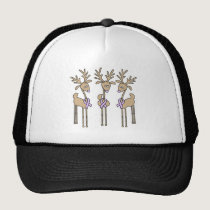 Lavender Ribbon Reindeer - General Cancer Trucker Hat