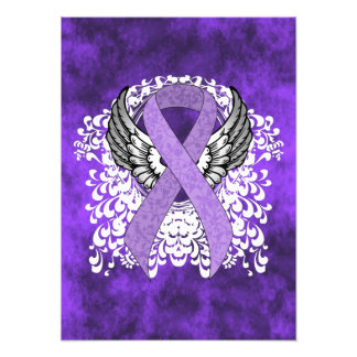 Lavender Ribbon with Wings Photo Art