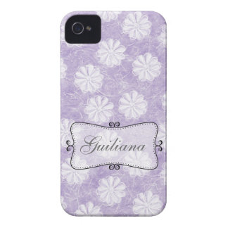 Lavender Rice Paper Floral iPhone 4 Cover
